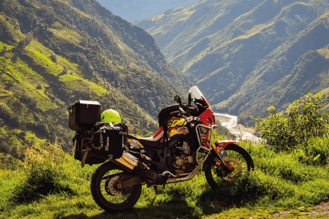 Africa Twin in the Mountains