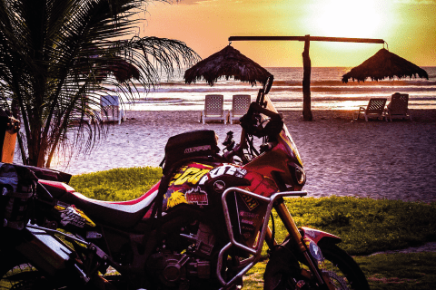 Africa Twin at Canoa Beach