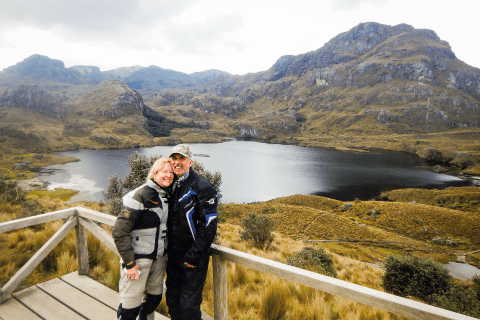 Couple at Lake in Las Cajas