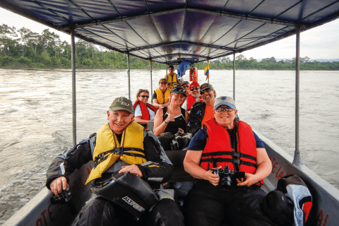 Canoe expedition in the Amazon jungle