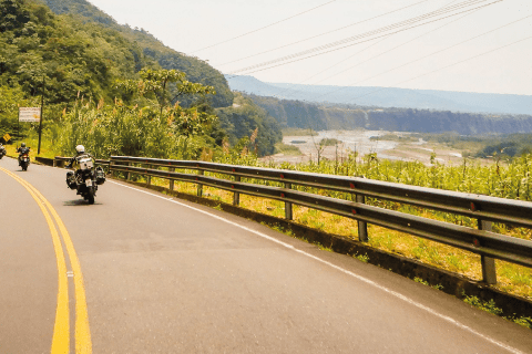 Riding along the Pastaza River in the Amazon Basin