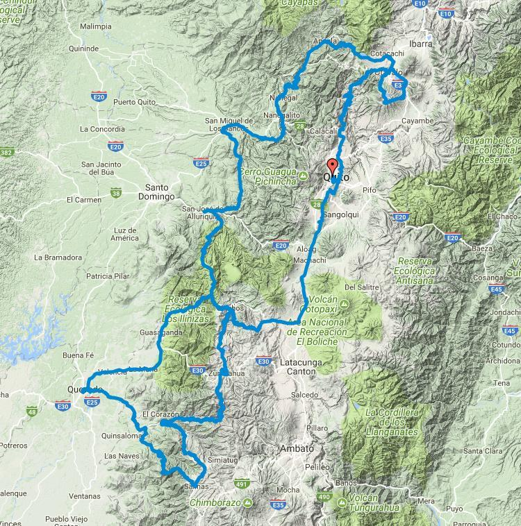 Offroad Ecuador ADVenture Tour Route