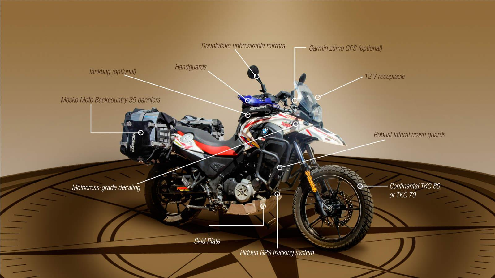 BMW G650GS ready for Ecuador
