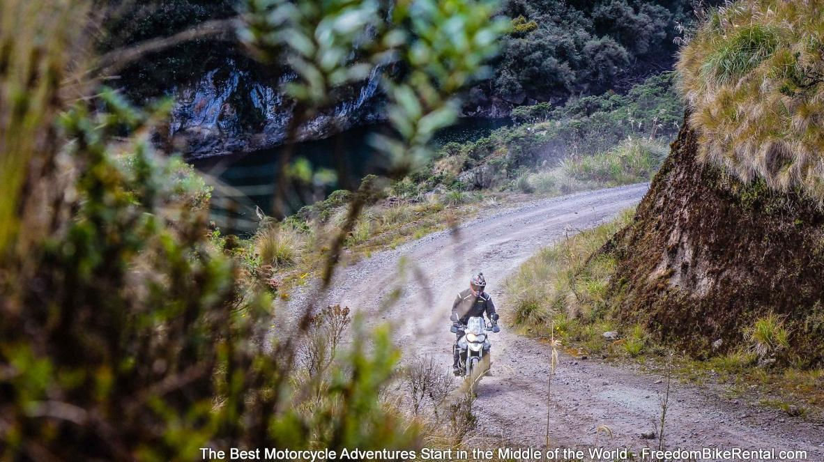 Dirt Deluxe Motorcycle Adventure Tour - Coca Cayambe Park in Ecuador
