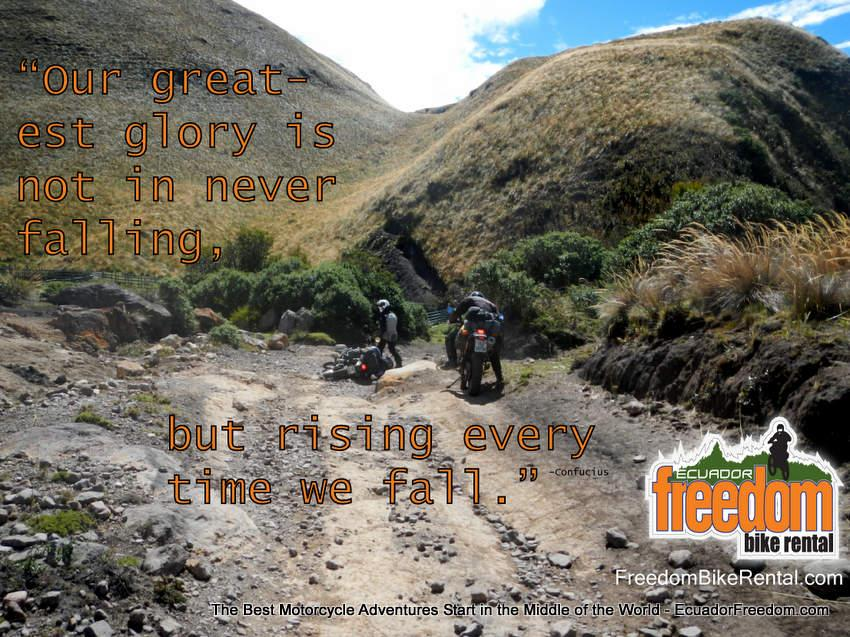 Our greatest glory is not in never falling but rising everytime we fall