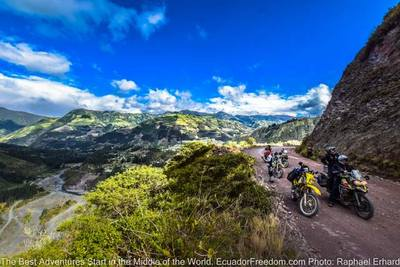 dirt road above rio chambo ecuador motorcycle adventure tour