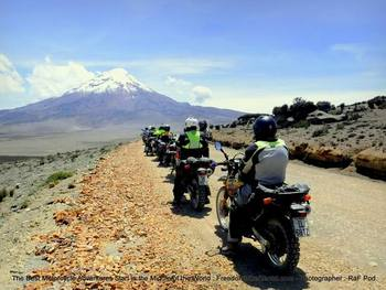 dirt road from salinas towards chimborazo ecuador motorcycle adventure tour
