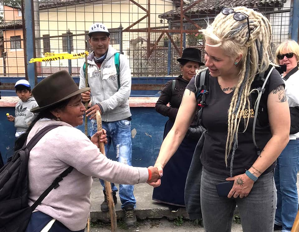 egle and indigenous woman in cotacachi