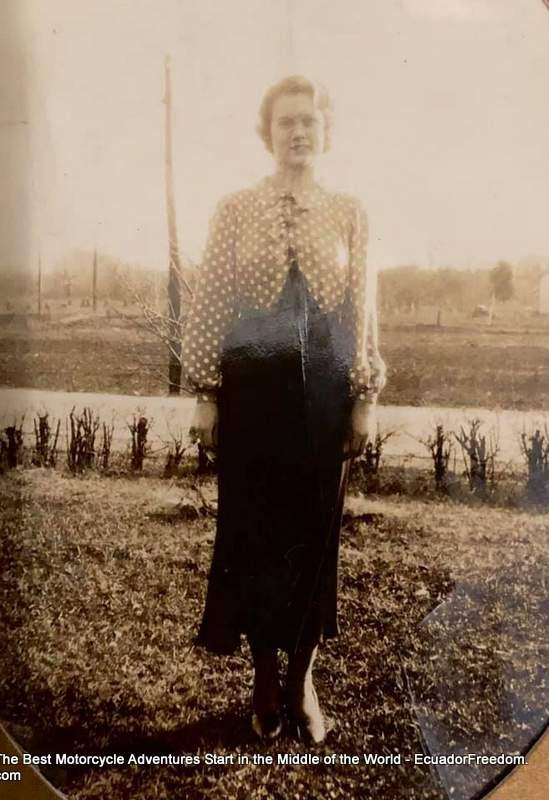 lucille howenstine on family farm in huntington indiana