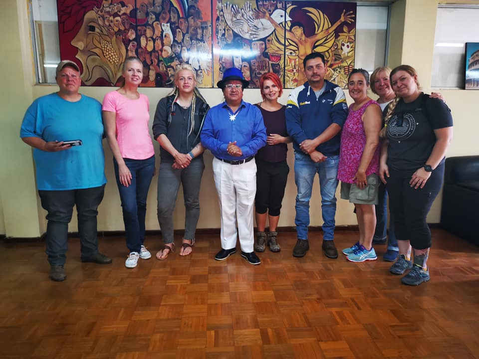 meeting the mayor of cotacachi ecuador with womens motorcycle tour