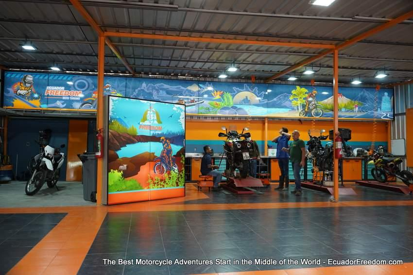 Ecuador Freedom Adventure Motorcycle Maintenance Center