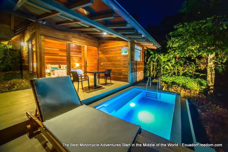 El Jardin Misualli Lodge Cabin with plunge pool the perfect place after a motorcycle ride