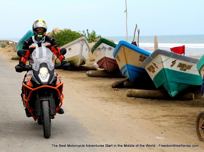 KTM 1050 coastal motorcycle ride Ecuador