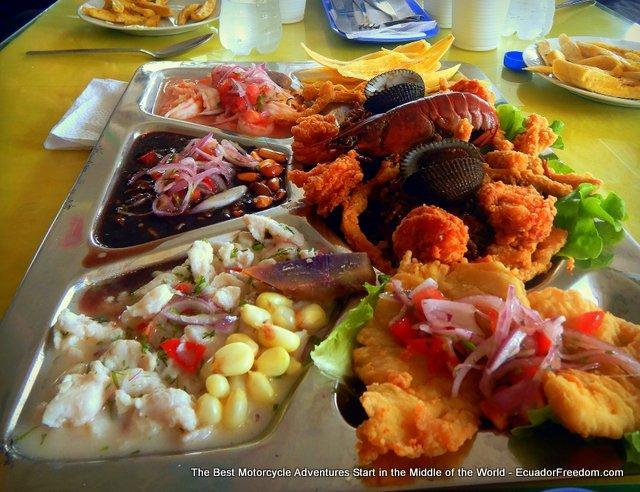 coastal feast in ecuador