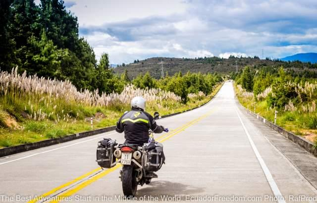 adventure motorcycle on self guided introduction to ecuador tour in southern ecuador