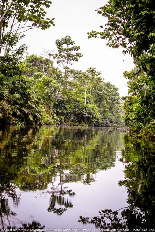 amazon jungle river in Ecuador motorcycle adventure tour