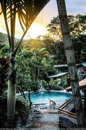 pool at the madre tierra in vilcabamba
