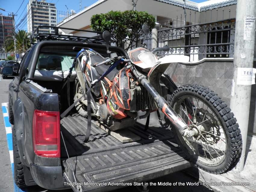 KTM 690 with welding defects in chassis in ecuador 2016