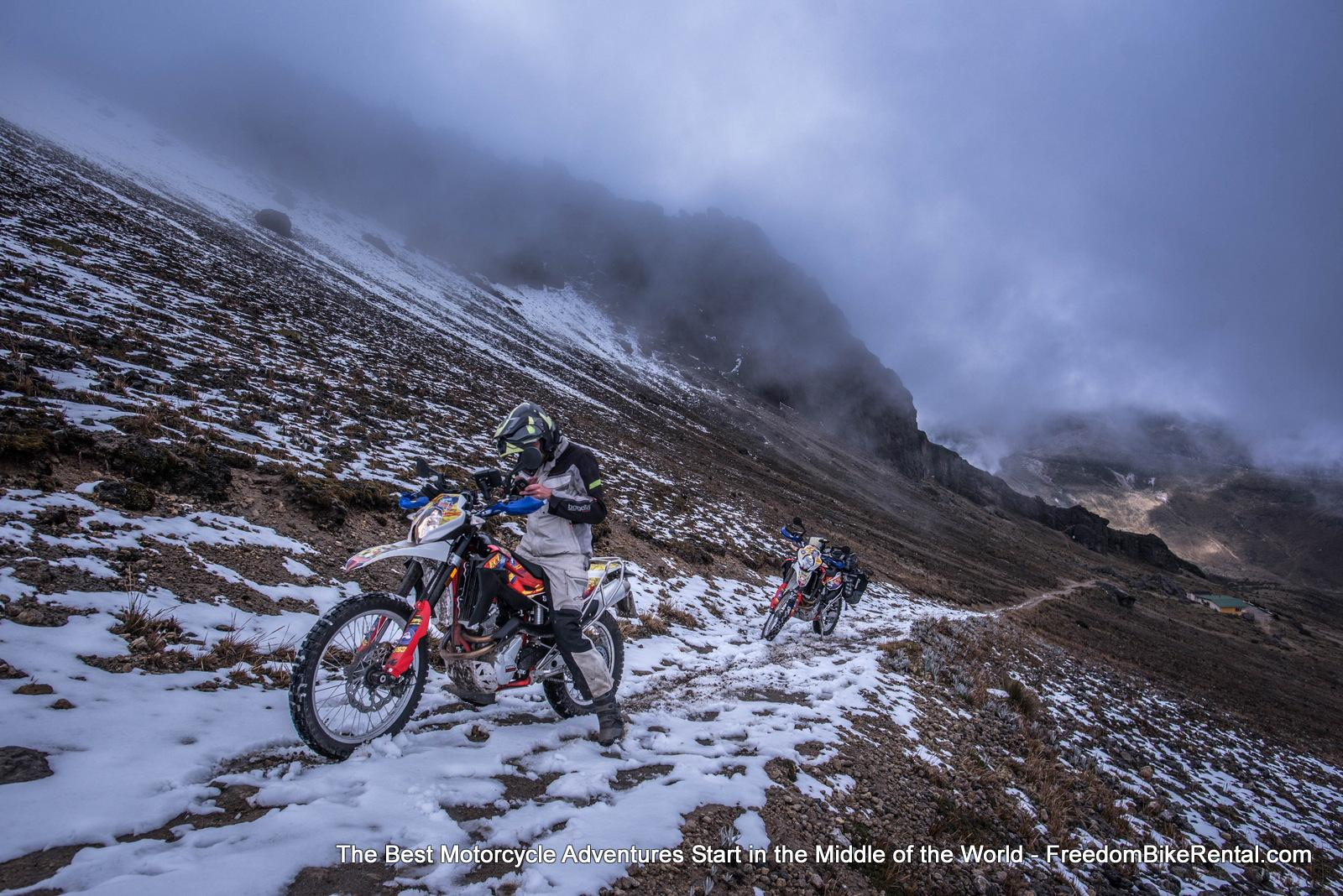 15000 feet on Guagua Pichincha Ecuador Motorcycle dual sport adventure tour