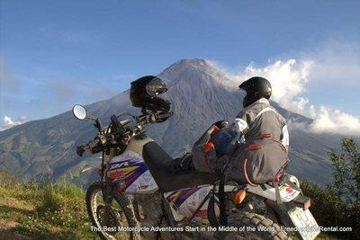 Tungurahua volcano motorcycle dirt bike tour