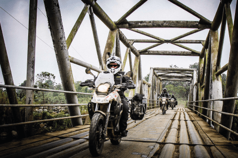G650GS on metal bridge