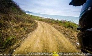 DIRT road on pacific coast motorcycle adventure tour