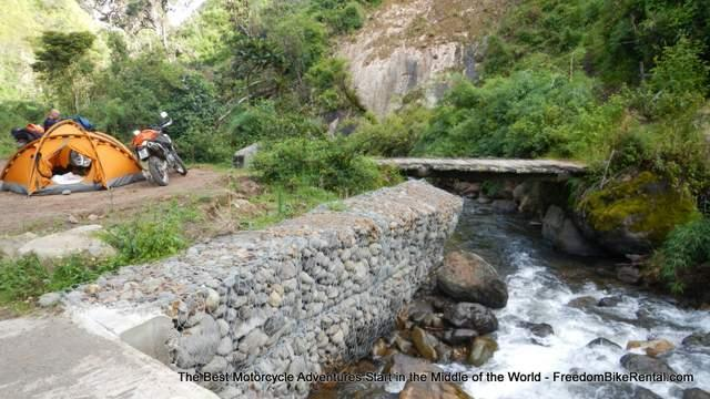 motorcycle camping in cotocachi cayapas national park in ecuador