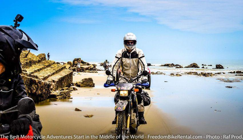 riding suzuki DR650 Offfroad Pacific Discovery Route Ecuador Motorcycle Dirt Bike Tour