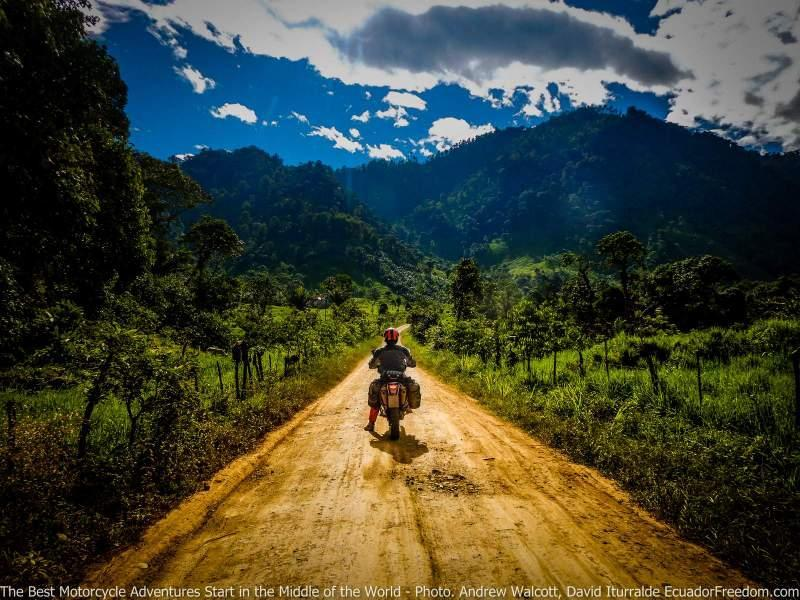 riding towards the Andes in Ecuador