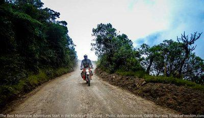 riding up towards chiriboga dirt bike ktm690 mtorocycle adventure tour