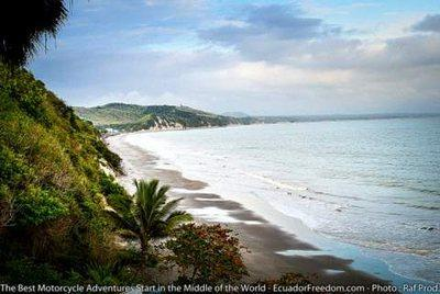 unspoiled coastline of ecuador on offroad pacific discovery tour motorcycle adventure