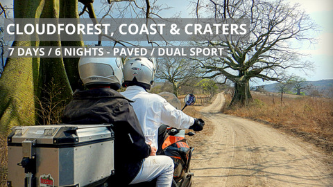 Guided Cloudforest Coast and Craters Motorcycle Adventure Tour