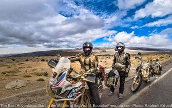 Adventure motorcycles in high elevations of Ecuador on Luxury Tour