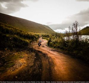 Dirt roads around laguna mojanda offroad ecuador motorcycle adventure tour