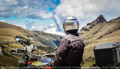 HIgh Elevations in El Angel Park on a dirt bike motorcycle adventure in Ecuador