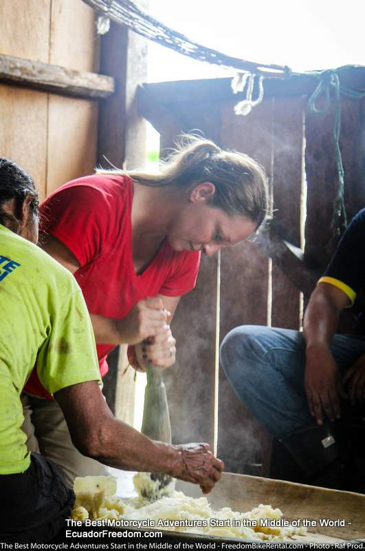 MAKING chicha in the amazon