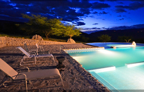 Tunas y Cabras Lodge Swimming Pool in Desert like area of Ecuador