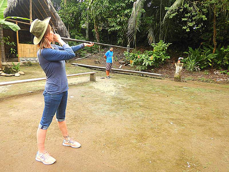 blowgun hunting in amazon