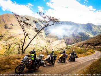 climbing up from cahuasqui ecuador motorcycle dirt adventure