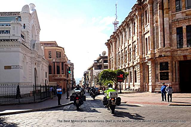 leaving cuenca motorcycle adventure tour