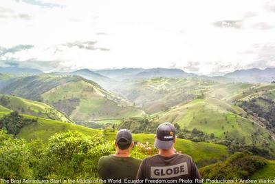 looking out on green mountains on ecuador colombia border