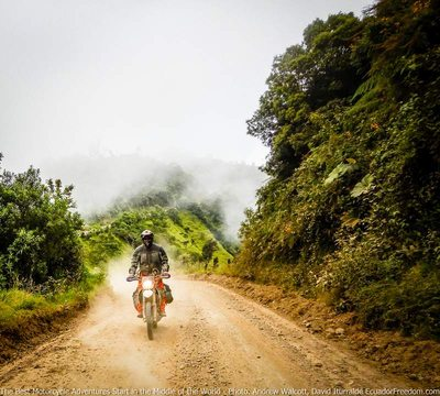 riding dirt bike adventure tour western slopes of andes ecuador