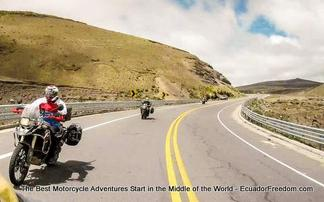 road from riobamba ecuador motorcycle adventure tour