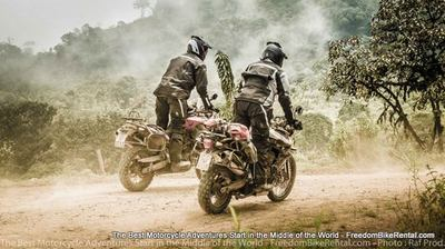 BMW F800GS on motorcycle adventure tour in ecuador