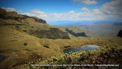 green lakes remote area dirt bike adventure tour in ecuador