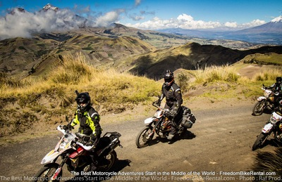dirt road swithbacks offroad ecuador motorcylcle excursion tour 4x4