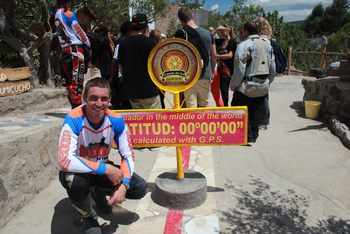 motorcyclist at the equator